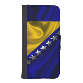 Bosnia and Herzegovina Flag Fabric iPhone SE/5/5s Wallet Case
