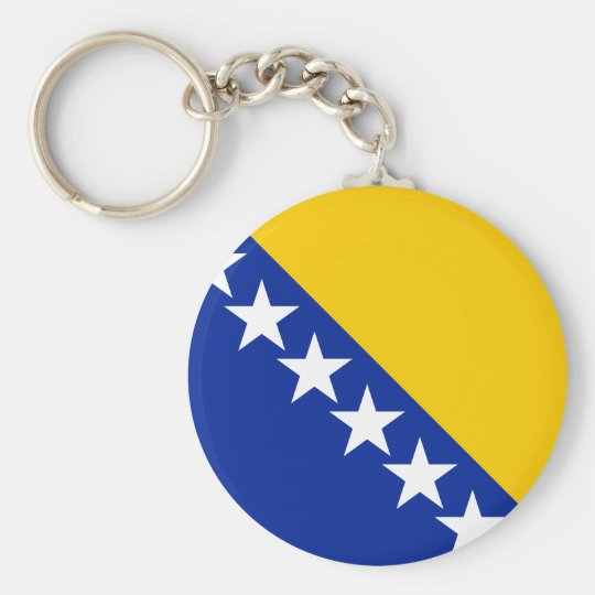Bosnia and Herzegovina Flag Keychain