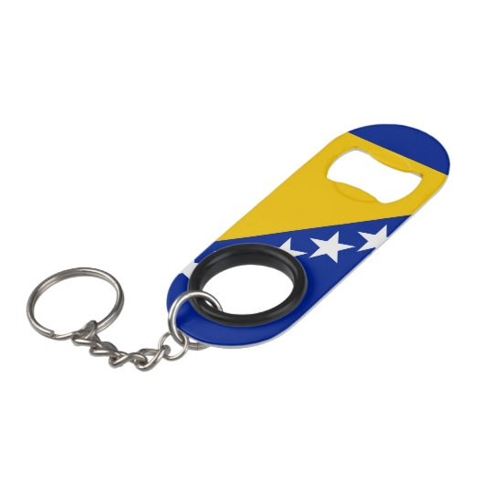 Bosnia and Herzegovina Flag Keychain Bottle Opener