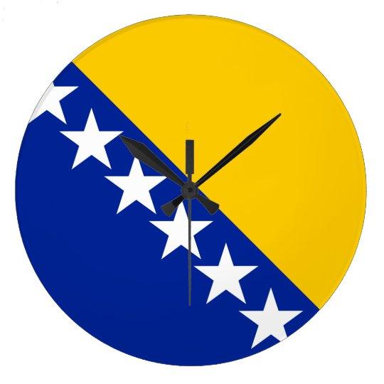 Bosnia and Herzegovina Flag Large Clock