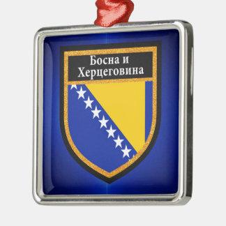 Bosnia and Herzegovina Flag Metal Ornament