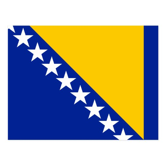 Bosnia and Herzegovina Flag Postcard