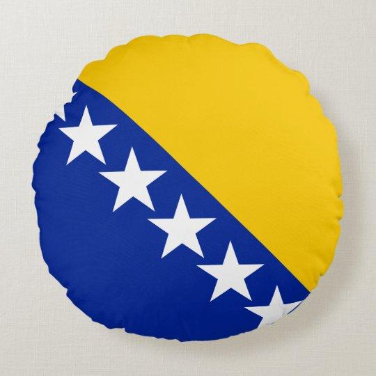 Bosnia and Herzegovina Flag Round Pillow