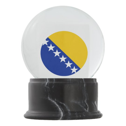 Bosnia and Herzegovina Flag Snow Globe