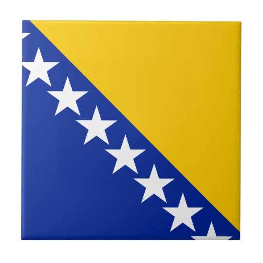 Bosnia and Herzegovina Flag Tile
