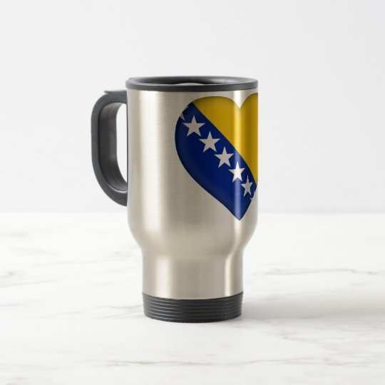 Bosnia and Herzegovina Flag Travel Mug