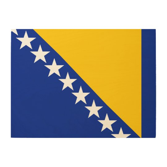 Bosnia and Herzegovina Flag Wood Wall Art