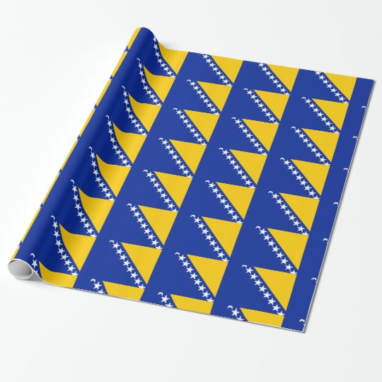Bosnia and Herzegovina Flag Wrapping Paper