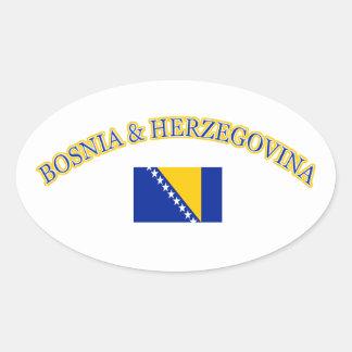 Bosnia and herzegovina football design oval sticker