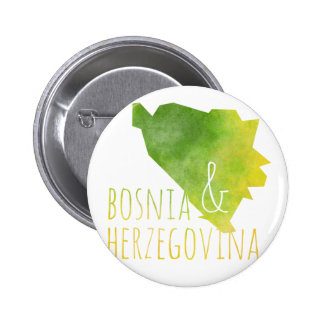 Bosnia and Herzegovina Map 2 Inch Round Button