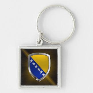 Bosnia and Herzegovina Metallic Emblem Keychain