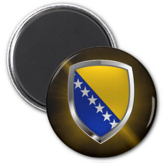 Bosnia and Herzegovina Metallic Emblem Magnet