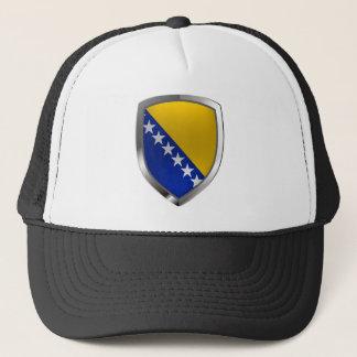 Bosnia and Herzegovina Metallic Emblem Trucker Hat