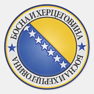 Bosnia and Herzegovina Round Emblem Classic Round Sticker