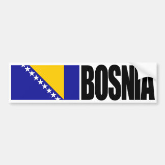 Bosnia Flag Bumper Sticker