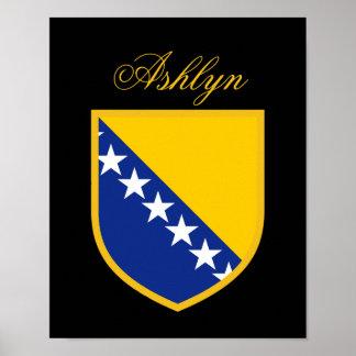 Bosnia Flag Poster
