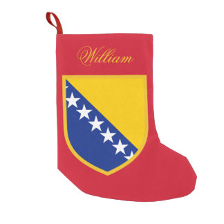 Bosnia Flag Small Christmas Stocking