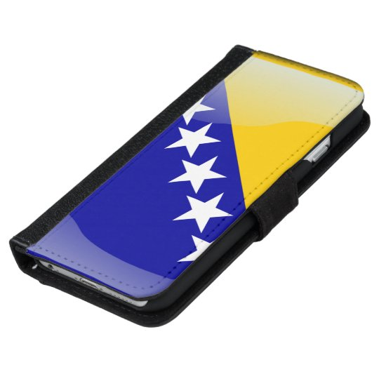 Bosnia glossy flag iPhone 6 wallet case