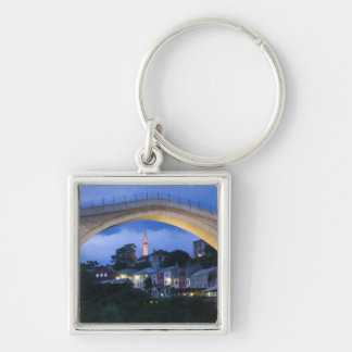 Bosnia-Hercegovina - Mostar. The Old Bridge 2 Silver-Colored Square Keychain