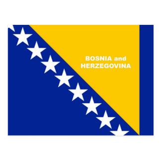 Bosnia-Herzegovina Flag custom design Postcard