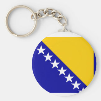 Bosnia Herzegovina Flag Keychain