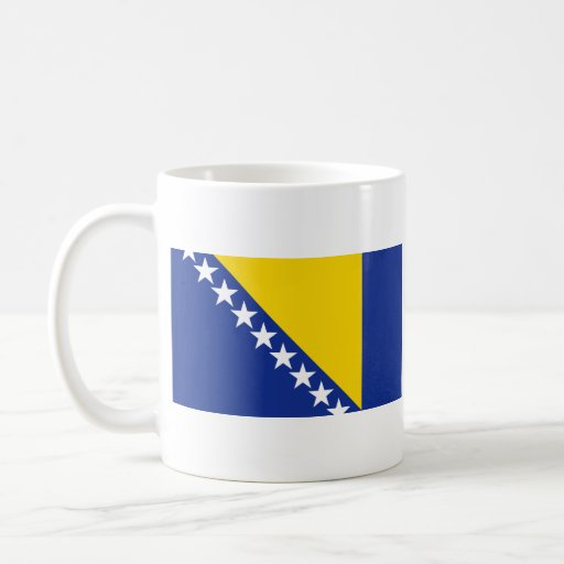 Bosnia Herzegovina Flag ~ Map Mug