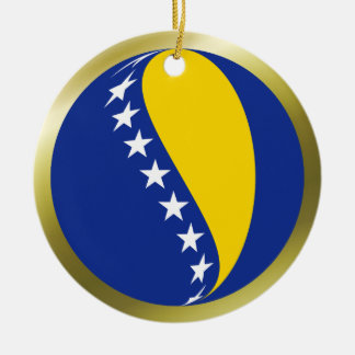 Bosnia Herzegovina Flag Ornament