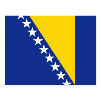 Bosnia Herzegovina Flag Postcard