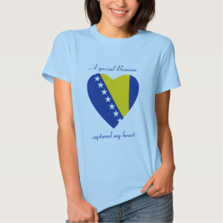 Bosnia Herzegovina Flag Sweetheart T-Shirt