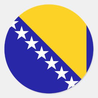 Bosnia Herzegovina High quality Flag Classic Round Sticker