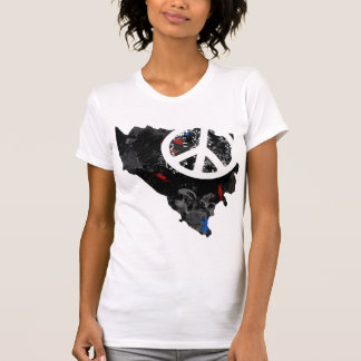 Bosnia Herzegovina Trendy Peace Sign with Bosnian T-Shirt