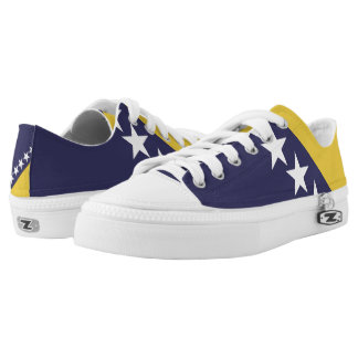 Bosnia Herzgovina Flag -.png Low-Top Sneakers