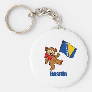 Bosnia Teddy Bear Keychain