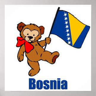 Bosnia Teddy Bear Poster
