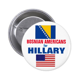 Bosnian Americans for Hillary 2016 2 Inch Round Button