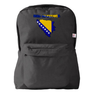 Bosnian country flag backpack