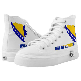 Bosnian country flag high tops