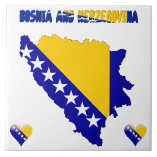 Bosnian country flag tile