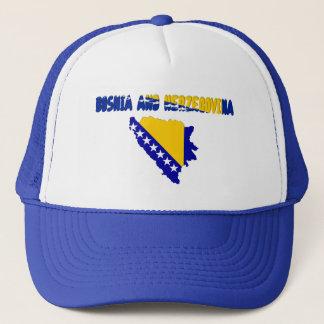 Bosnian country flag trucker hat