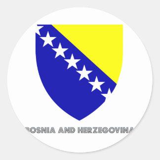 Bosnian Emblem Classic Round Sticker