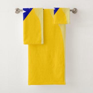 Bosnian flag bath towel set