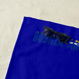 Bosnian flag beach towel