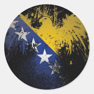 Bosnian Flag Classic Round Sticker