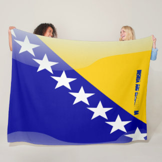 Bosnian flag fleece blanket