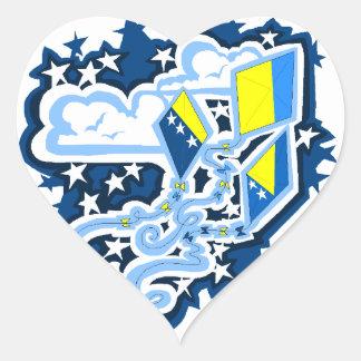 Bosnian Flag Kites sticker