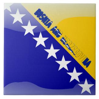 Bosnian flag tile