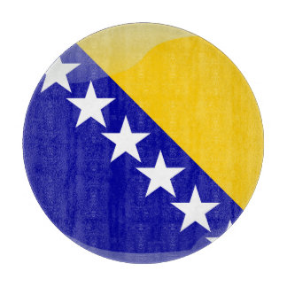 Bosnian glossy flag cutting board