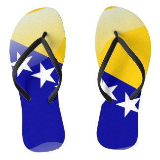 Bosnian glossy flag flip flops