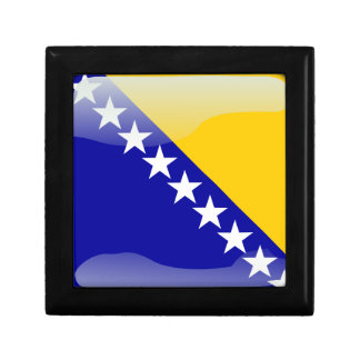 Bosnian glossy flag gift boxes
