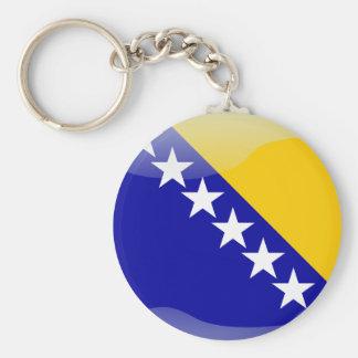 Bosnian glossy flag keychain